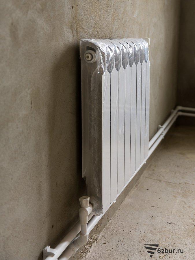 Алюминиевый радиатор системы отопления