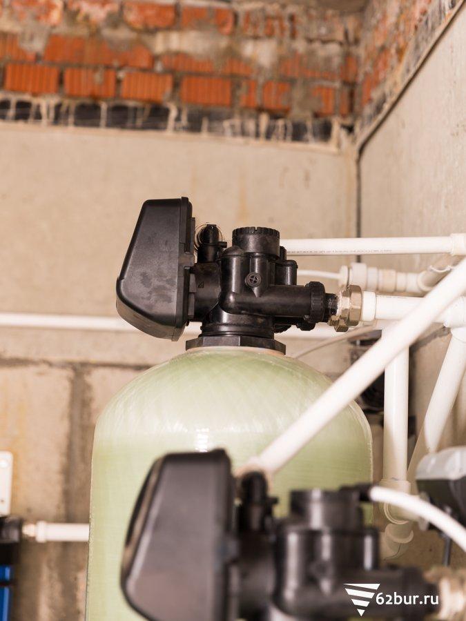 Автоматические клапана системы очистки воды от железа и жесткости