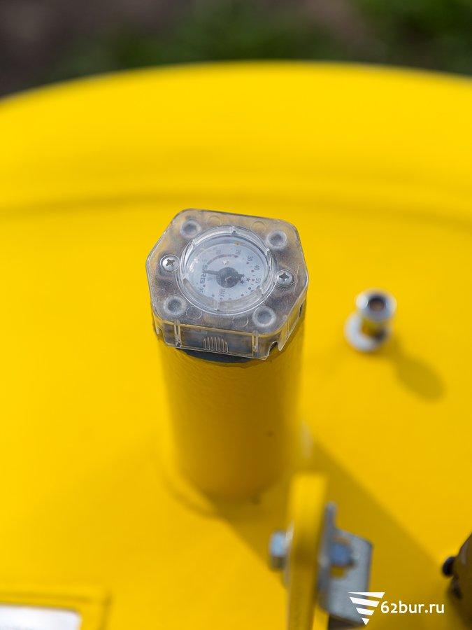 Газгольдер Deltagaz индикатор уровня газа