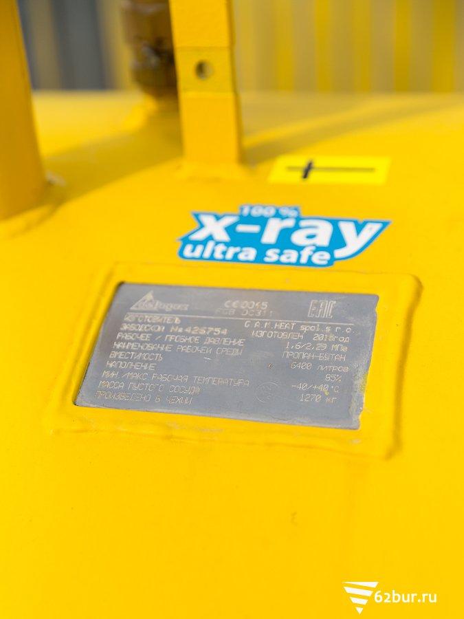 Газгольдер Deltagaz заводская маркировка