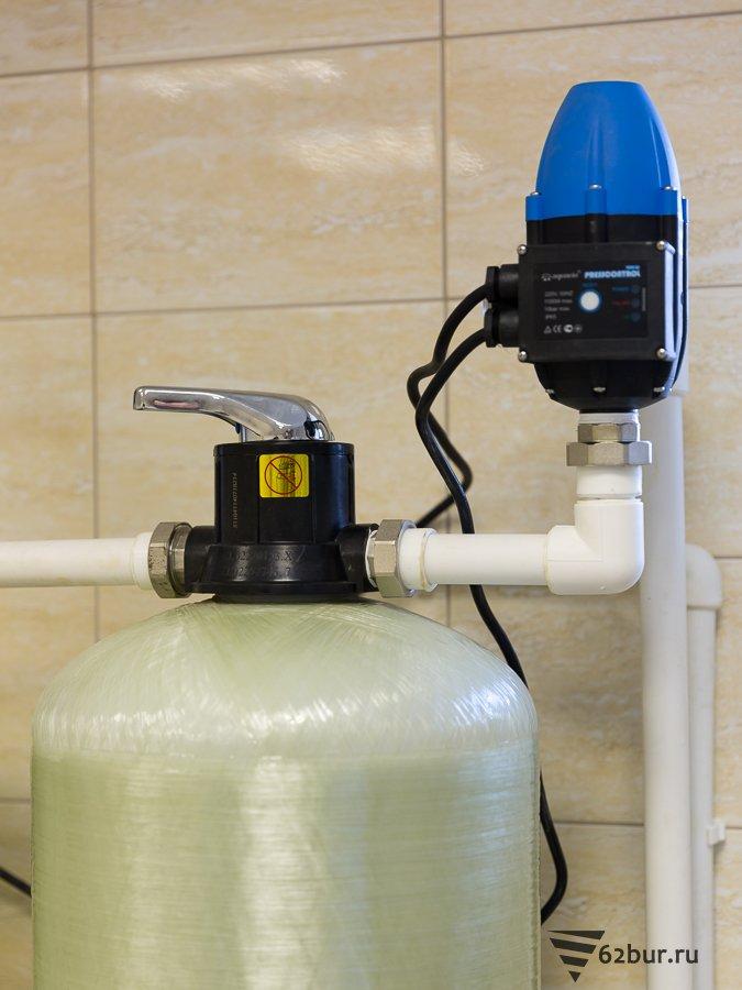 Колонна обезжелезивания воды с ручным управлением
