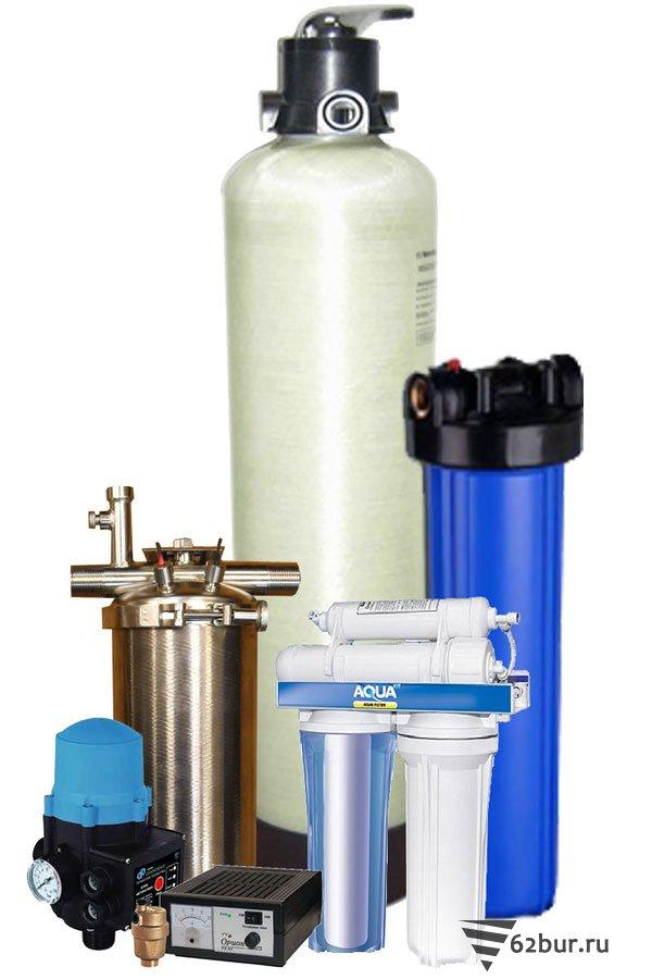 Компоненты системы очистки воды