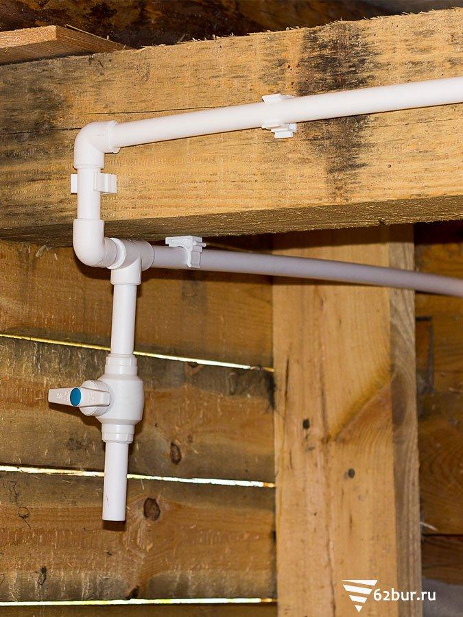Кран для слива водопровода