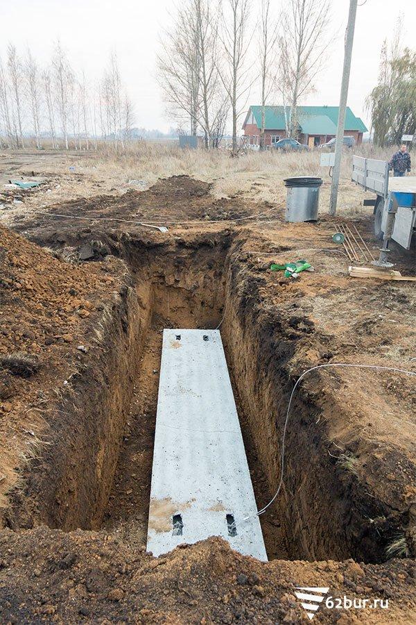 Основание для установки газгольдера
