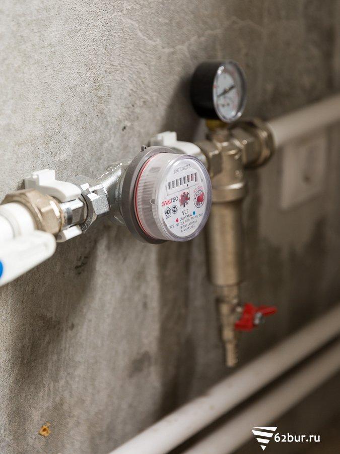 Счетчик в системе водопровода