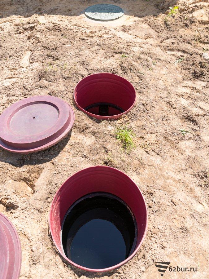 Септик Биотанк заполнен водой
