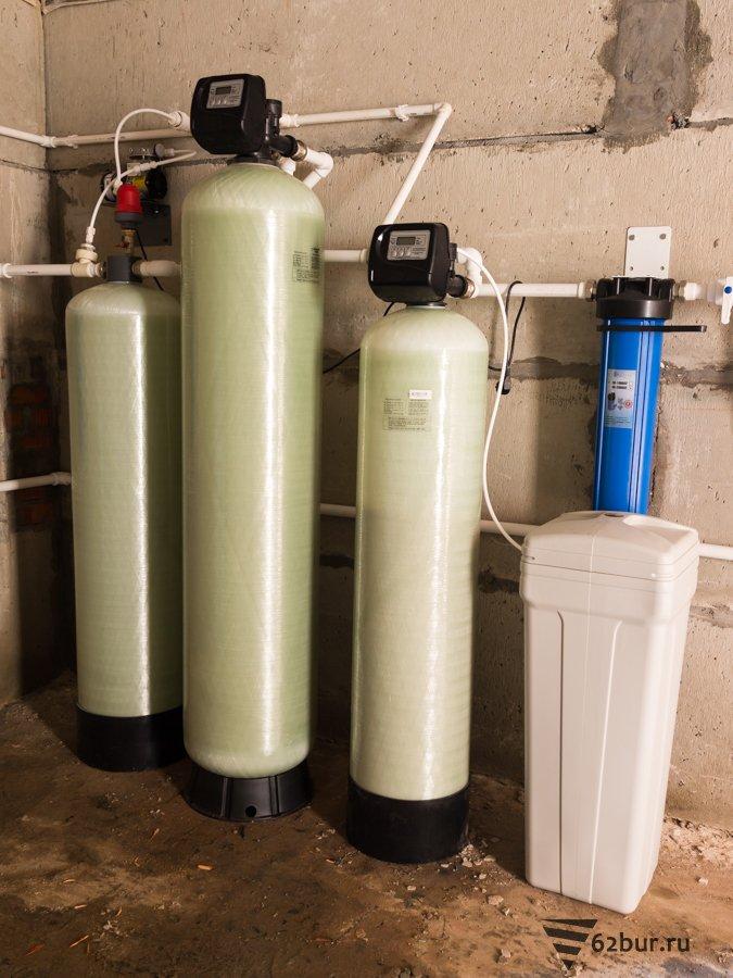 Система обезжелезивания и умягчения воды