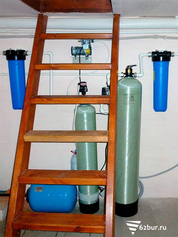 Система очистки воды (аэрация и обезжелезивание)