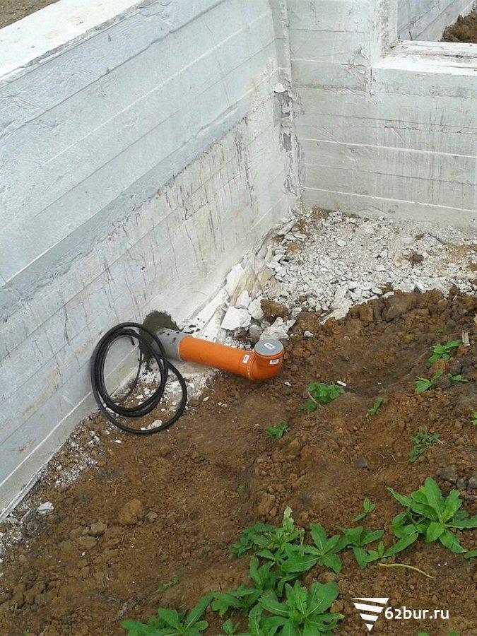 Ввод канализации в здание
