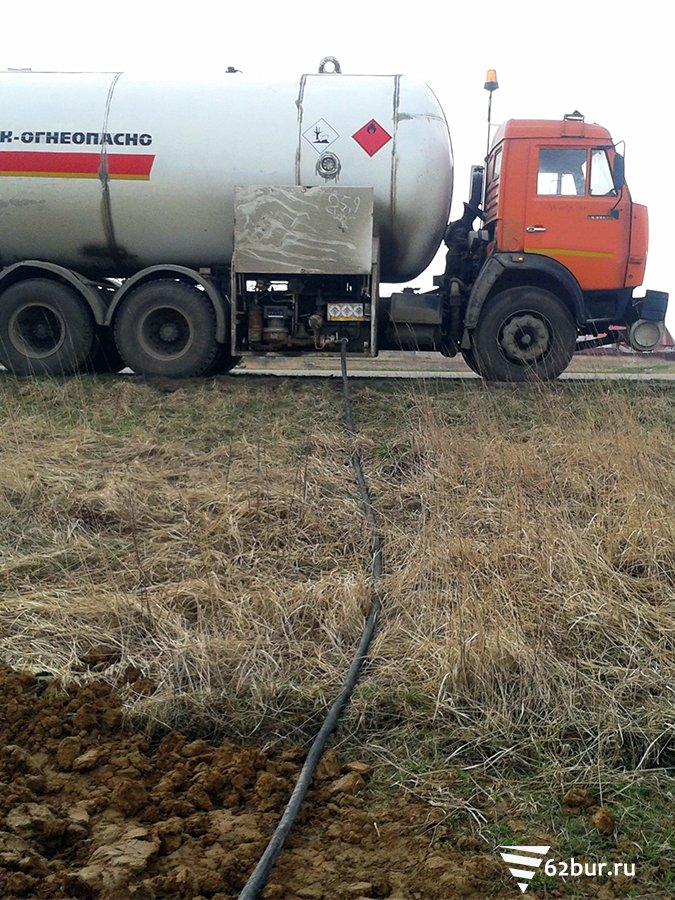Заправка газгольдера пропаном